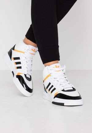 DROP STEP BASKETBALL-STYLE SHOES - High-top trainers - footwear white/core black/collegiate gold