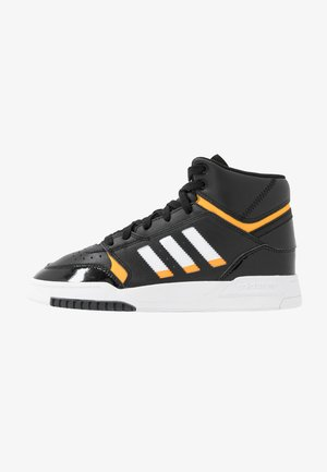 DROP STEP BASKETBALL-STYLE SHOES - Korkeavartiset tennarit - core black/footwear white/gold