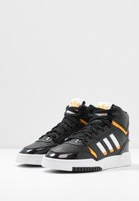 adidas Originals - DROP STEP BASKETBALL-STYLE SHOES - Vysoké tenisky - core black/footwear white/gold - 4