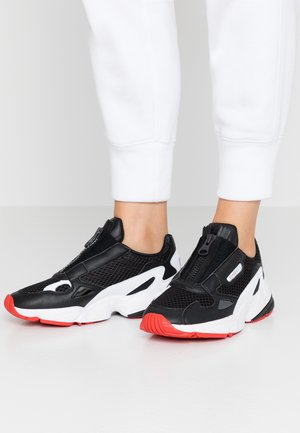 FALCON ZIP - Trainers - core black/footwear white/red