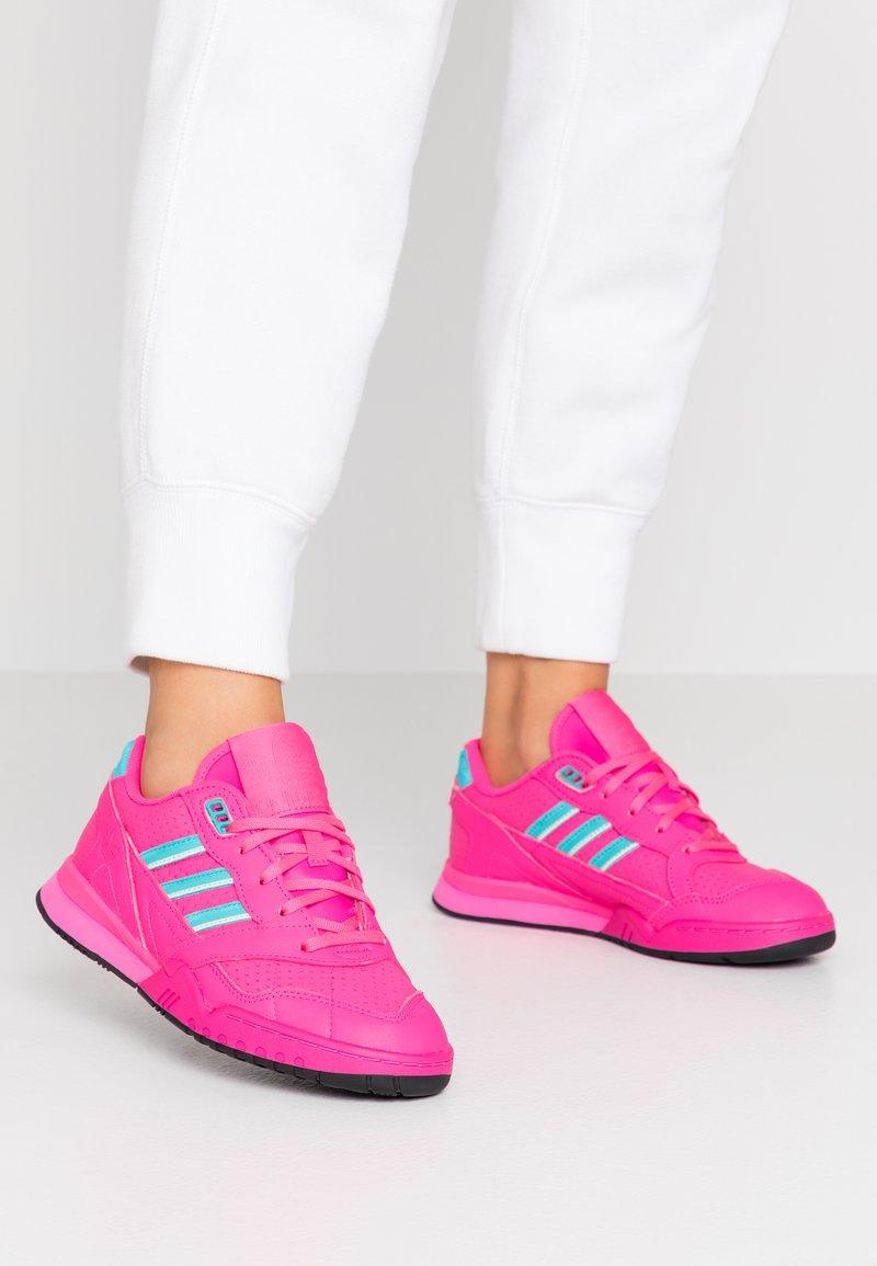 adidas Originals - A.R. TRAINER - Trainers - shock pink/hi-res aqua/ice mint