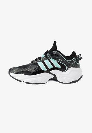 MAGMUR RUNNER - Matalavartiset tennarit - core black/footwear white/frozen mint