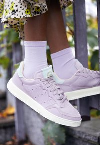adidas Originals - SUPERCOURT - Sneakersy niskie - soft vision/ice mint - 4