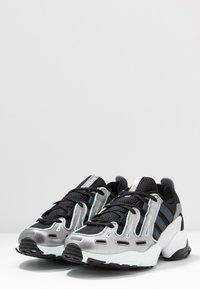 adidas Originals - EQT GAZELLE - Trainers - core black/metal/ice mint - 4