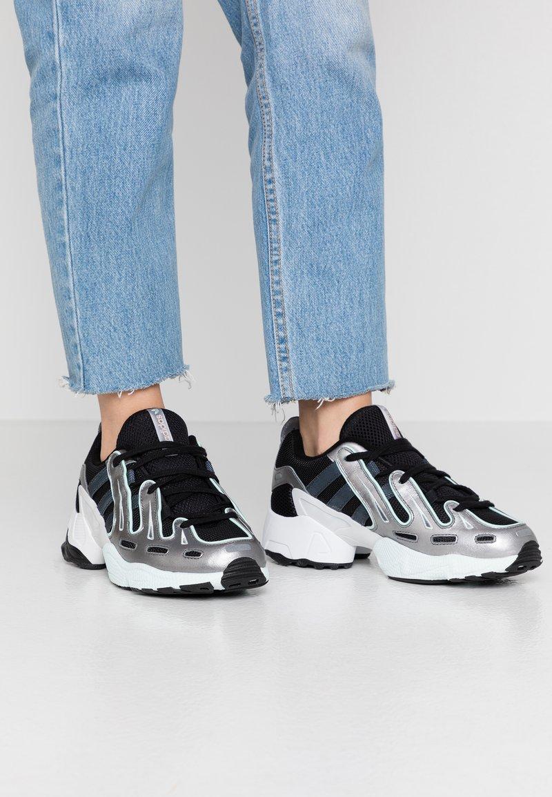 adidas Originals - EQT GAZELLE - Trainers - core black/metal/ice mint