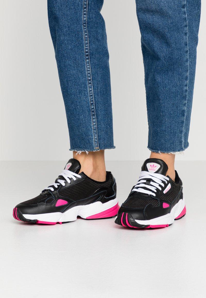 adidas Originals - Trainers - core black/shock pink/footwear white