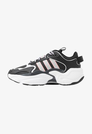 MAGMUR RUNNER - Matalavartiset tennarit - core black/grey two/glow pink