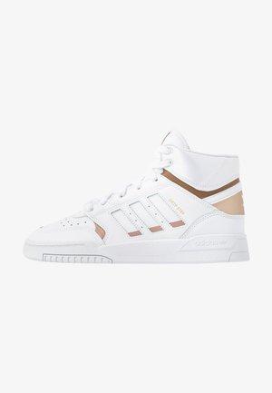 DROP STEP  - Korkeavartiset tennarit - footwear white/copper metallic