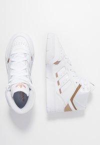adidas Originals - DROP STEP  - Sneakers hoog - footwear white/copper metallic - 3
