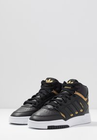 adidas Originals - DROP STEP  - Høye joggesko - core black/gold metallic/footwear white - 4