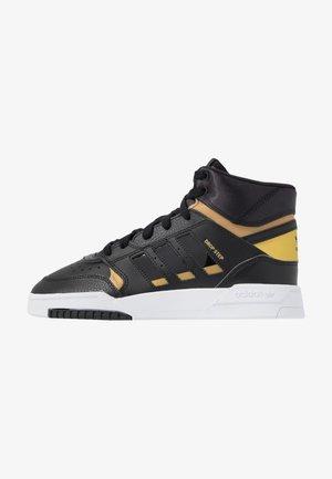 DROP STEP  - Sneakers high - core black/gold metallic/footwear white