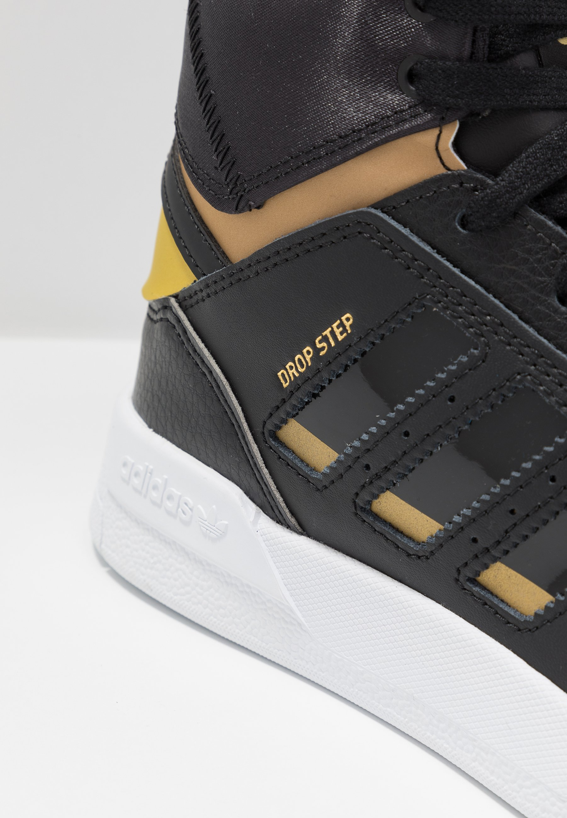 Adidas Originals Drop Step - Høye Joggesko Core Black/gold Metallic/footwear White
