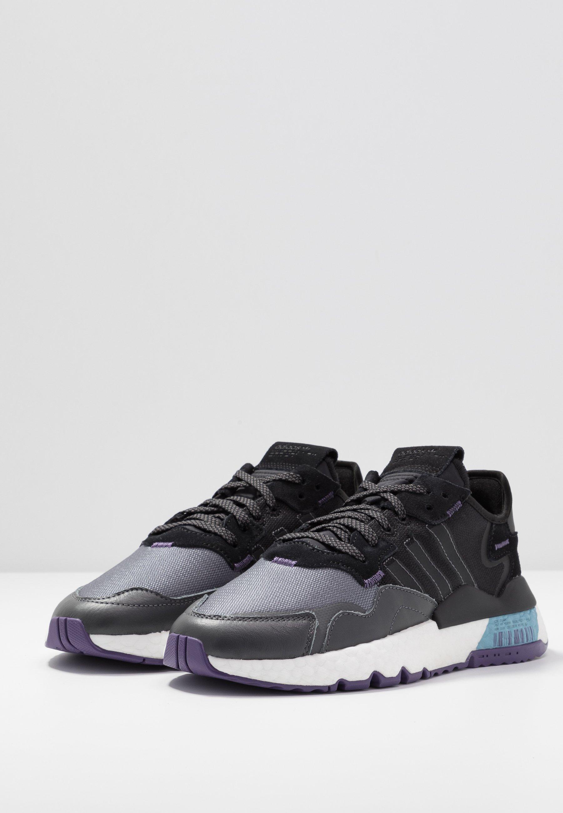 adidas Originals NITE JOGGER  - Sneakers basse - tech purple/core black/grey five