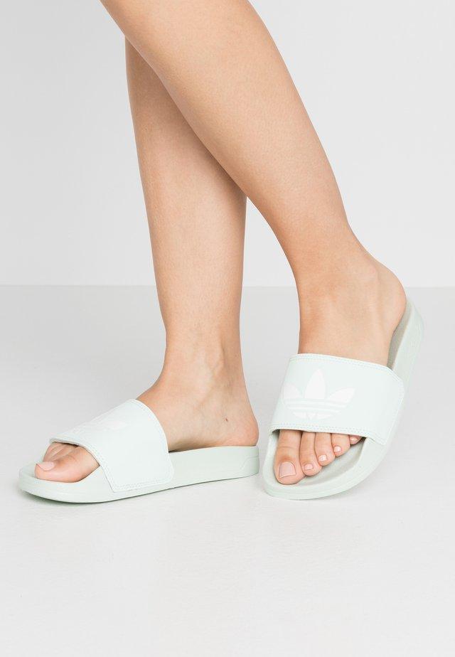 ADILETTE LITE - Slip-ins - dash green/footwear white
