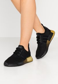 adidas Originals - NMD_R1 - Sneakersy niskie - clear black/carbon - 0
