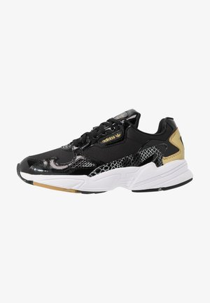 Sneakersy niskie - core black/footwear white/gold metallic