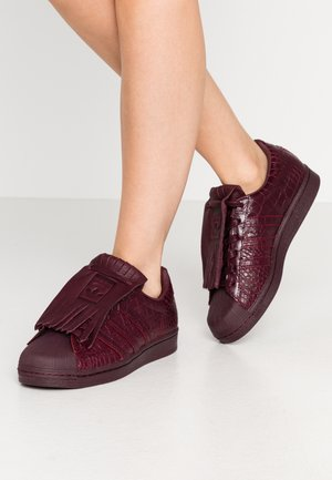 SUPERSTAR FRINGE  - Sneakers - maroon/gold metallic
