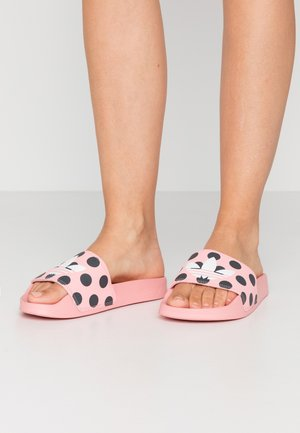 ADILETTE LITE  - Sandaler - glow pink/footwear white/carbon