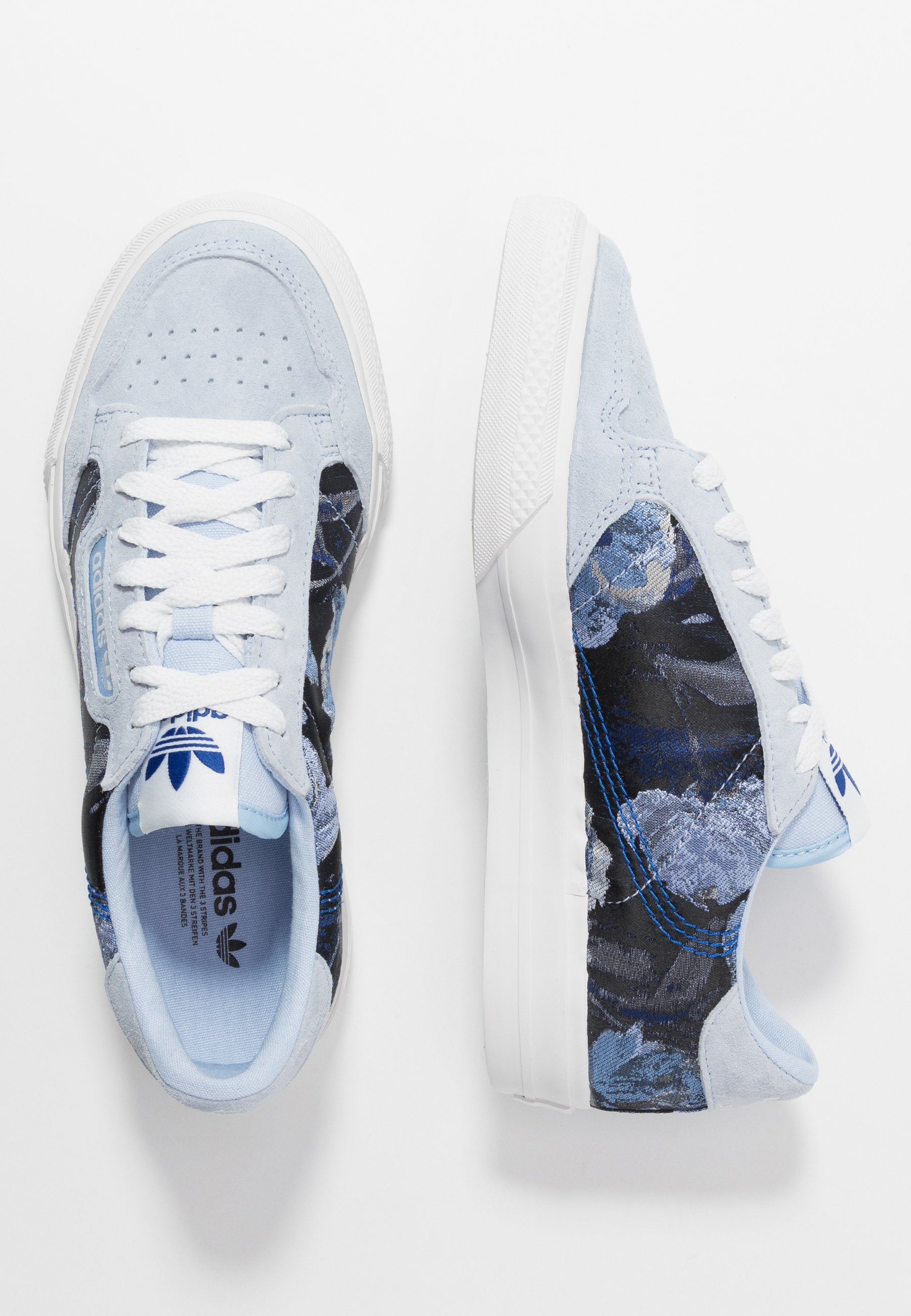 adidas Originals CONTINENTAL - Sneakers basse - periwinkle/crystal white/royal blue