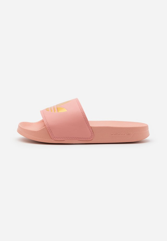 ADILETTE SPORTS INSPIRED SLIDES - Ciabattine - trace pink/gold metallic