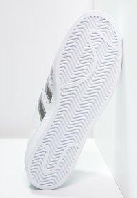 adidas Originals - SUPERSTAR - Trainers - white/silver metallic/core black - 5