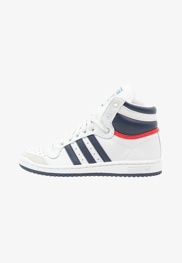 adidas Originals - TOP TEN  - Sneakers hoog - neo white/new navy/collegiate red