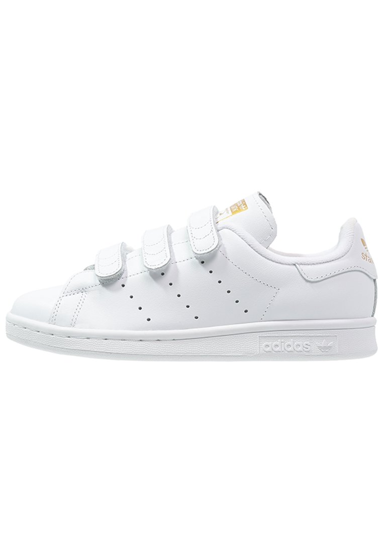 adidas Originals - STAN SMITH LACE-FREE SHOES - Baskets basses - footwear white / gold metallic