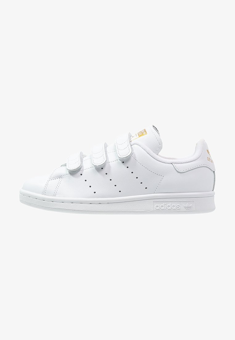 adidas Originals - STAN SMITH LACE-FREE SHOES - Sneakers laag - weiß/gold