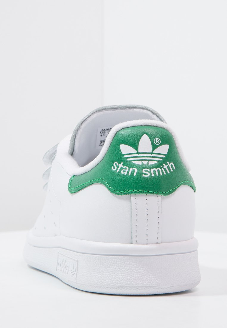 adidas Originals STAN SMITH LACE-FREE SHOES - Sneakers basse - footwear white / green OZHPBlMr