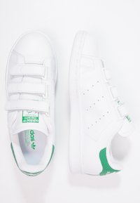 adidas Originals - STAN SMITH LACE-FREE SHOES - Sneakers - blanc/vert