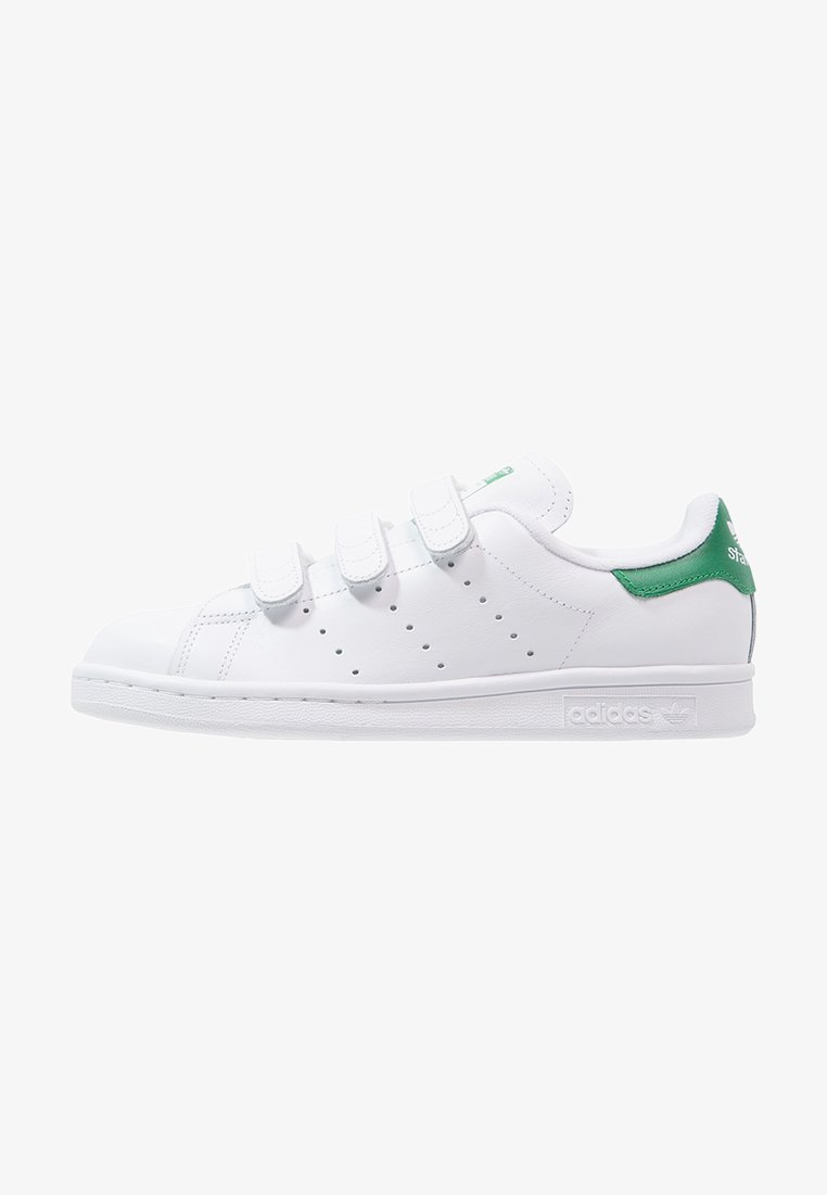 adidas Originals - STAN SMITH LACE-FREE SHOES - Sneakers basse - blanc/vert