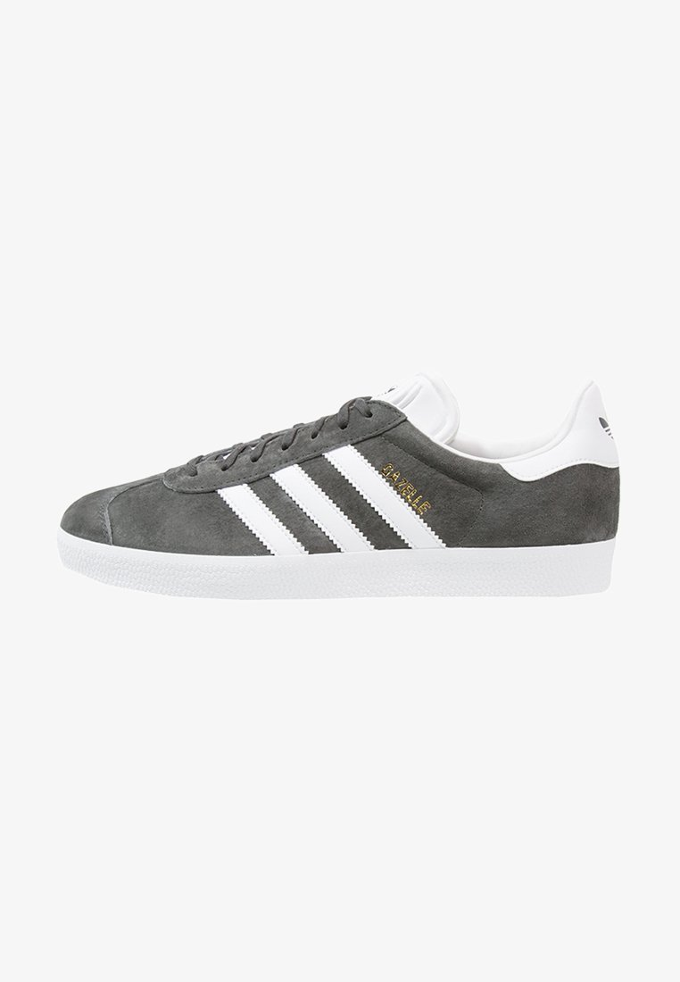 adidas Originals - GAZELLE - Sneakers laag - solid grey/white/gold metallic