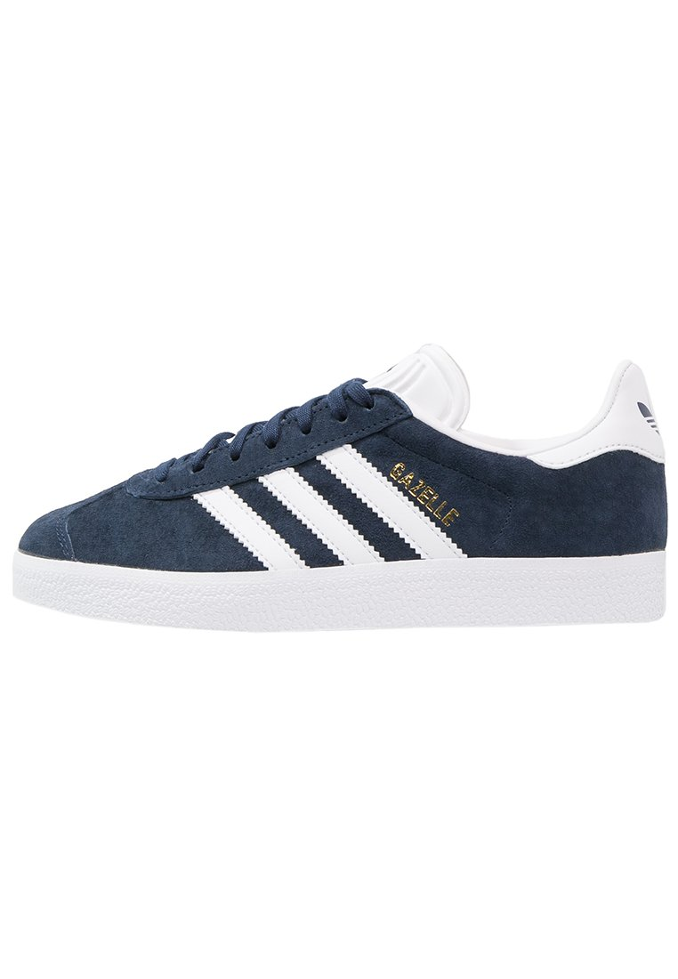 adidas Originals - GAZELLE - Joggesko - conavy/white/goldmt