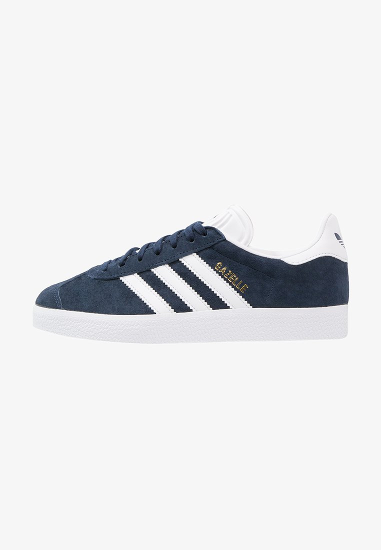 adidas Originals - GAZELLE - Baskets basses - collegiate navy/white/gold metallic
