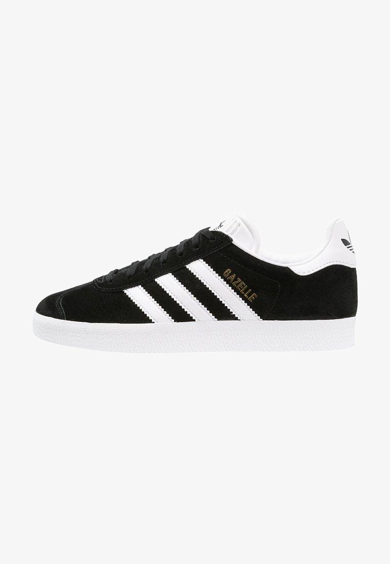 adidas Originals - GAZELLE - Sneaker low - core black/white/gold metallic
