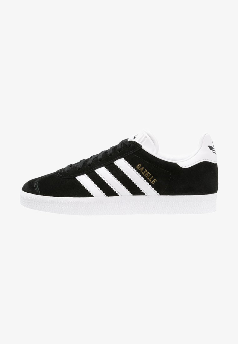 adidas Originals - GAZELLE - Joggesko - core black/white/gold metallic