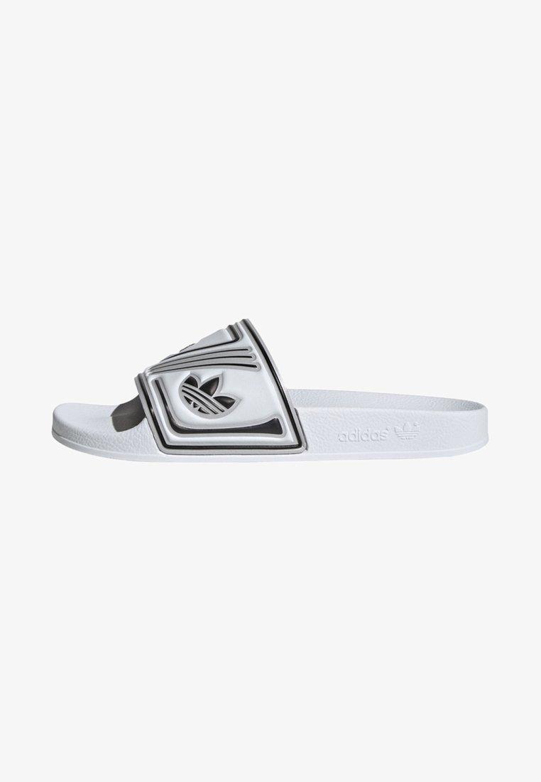 adidas Originals - ADILETTE SLIDES - Pool slides - white