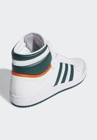 adidas Originals - TOP TEN HI SHOES - Korkeavartiset tennarit - white - 3