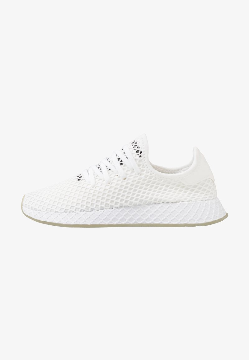 adidas Originals - DEERUPT RUNNER - Trainers - footwear white/core black/sesame