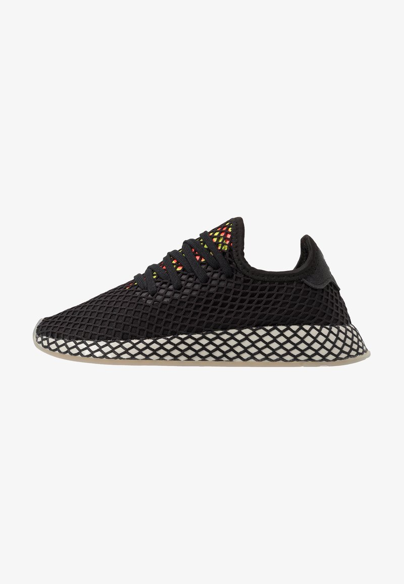 adidas Originals - DEERUPT RUNNER - Trainers - core black/sesame/solar red