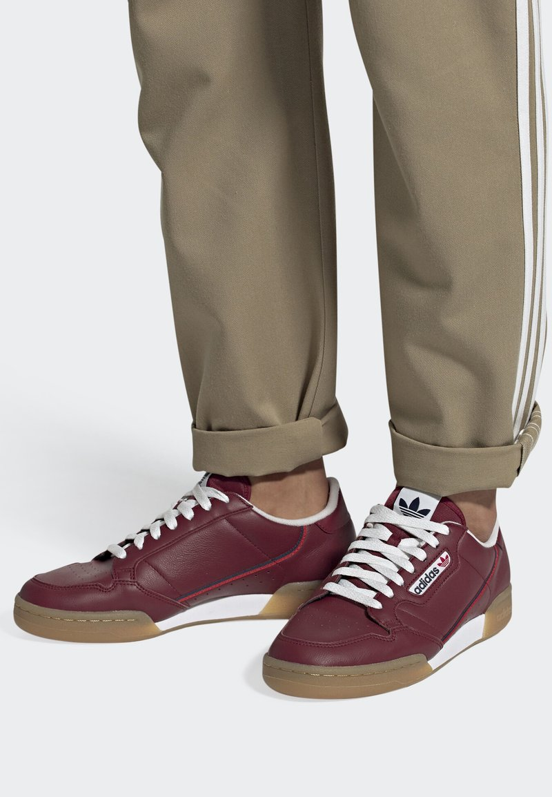 adidas Originals - CONTINENTAL 80 SHOES - Trainers - burgundy
