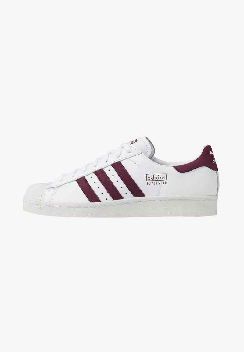 adidas Originals - SUPERSTAR 80S - Sneakers laag - footwear white/maroon/crystal white