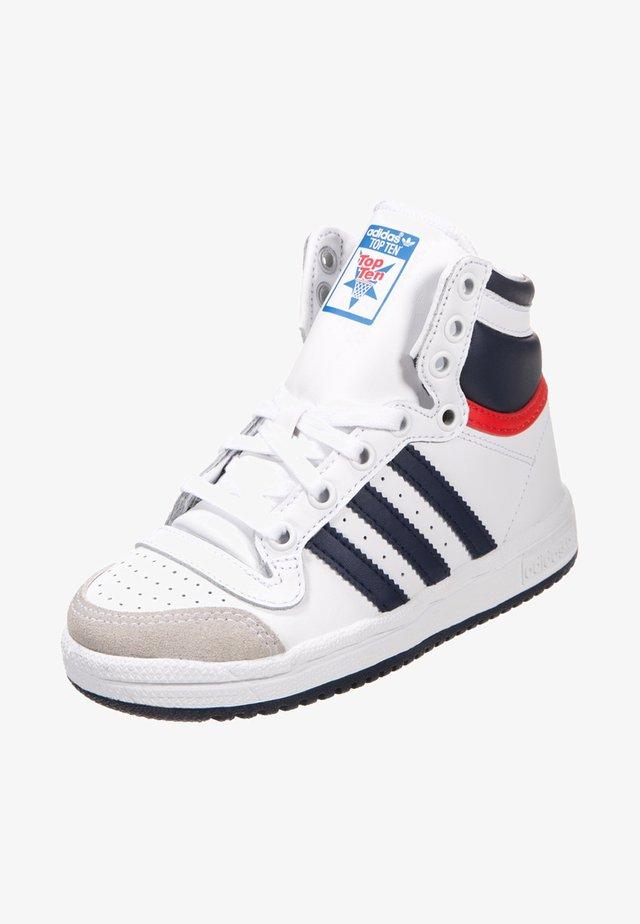 TOP TEN - Höga sneakers - white