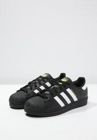 adidas Originals - SUPERSTAR FOUNDATION ALL BLACK STYLE SHOES - Matalavartiset tennarit - noir / blanc - 2