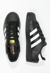 adidas Originals - SUPERSTAR FOUNDATION ALL BLACK STYLE SHOES - Matalavartiset tennarit - noir / blanc - 1