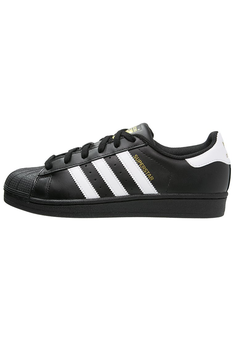 Adidas Originals Superstar Foundation All Black Style Shoes - Sneakers White
