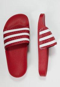 adidas Originals - ADILETTE - Badslippers - light scarlet/white - 1
