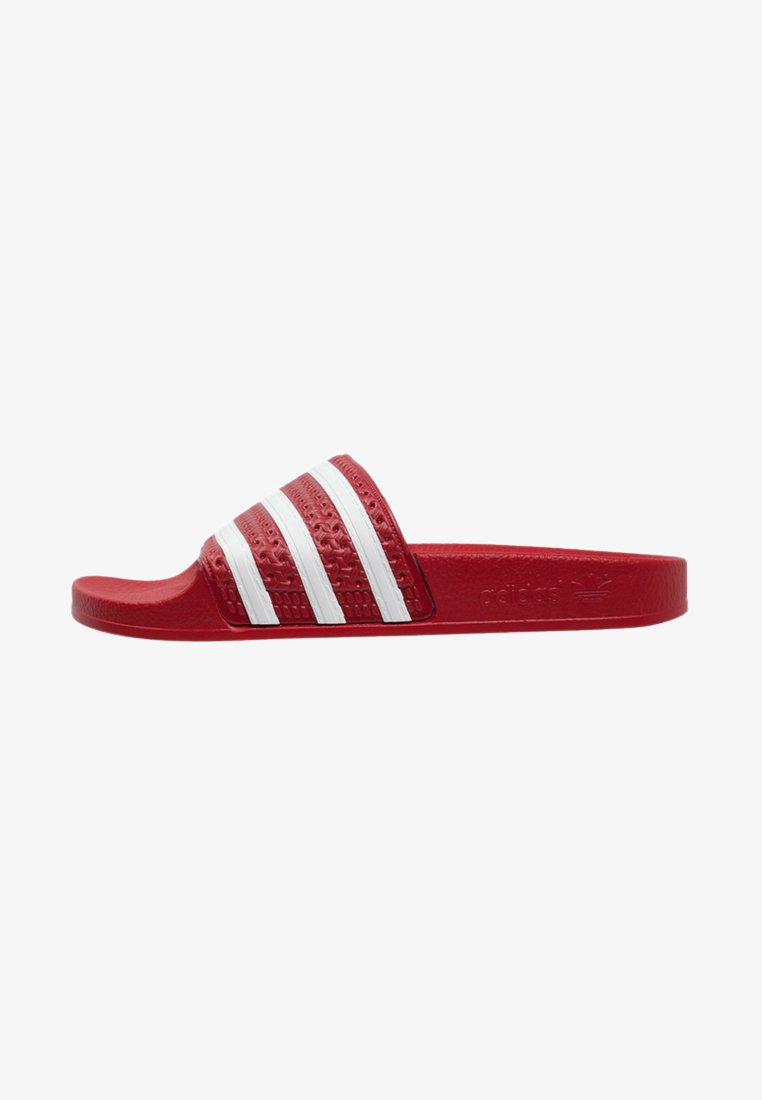 adidas Originals - ADILETTE - Pool slides - light scarlet/white