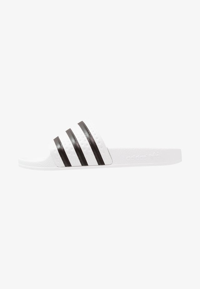 ADILETTE - Badslippers - white/black