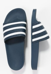 adidas Originals - ADILETTE - Sandales de bain - blue/white - 1